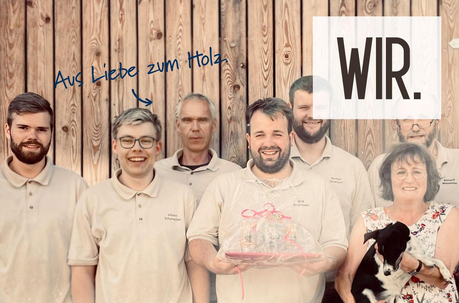 Das Team der Tischlerei Moormann